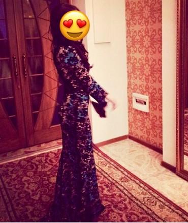 Шикарное осенне-зимнее платье с небольшим шлейфом,вживую еще красивее в Бишкек