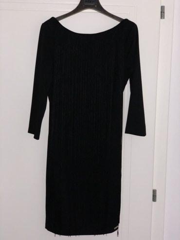 Crna, Italijasnka haljina, u M veličini, sa resama napred i pozadi, - Kragujevac