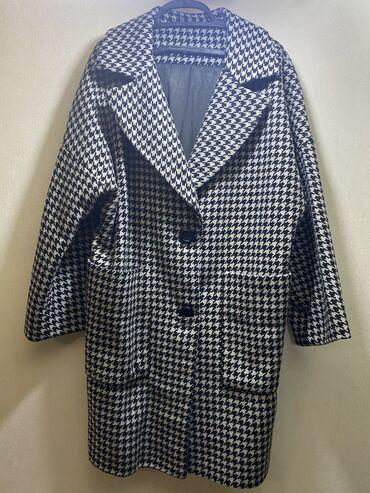 женская пальто в Кыргызстан: Пальто шерсть 100%, оверсайз 42-46. Теплый и стильный