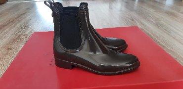 Резиновые сапоги - Кыргызстан: Резиновые челси Massimo Dutti, размер 37, цвет темно коричневый