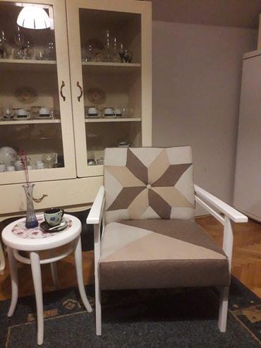 Fotelje | Srbija: Retro foteljice br 2, radjene u modernom patchwork stilu u 5 nijansi