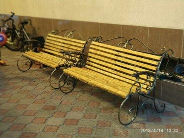Кованая скамейка ручной работы.  в Балыкчы