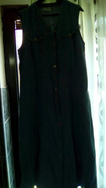Od teksasa - Srbija: Duga teksas haljina bez rukava, šira od struka ka dole, 46