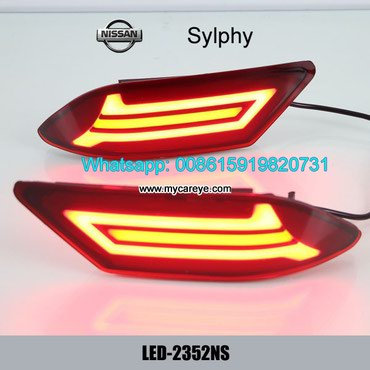 Nissan Sylphy Car LED running Bumper Brake Lights Turn Signal lamps in Tīkapur