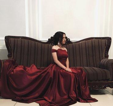 Выпускное платье бордовое ( корсет ) со в Ош