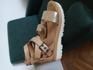Ženska obuća | Gornji Milanovac: Kozne Bull Boxer (Carvel) sandale, br.37, malo nosene