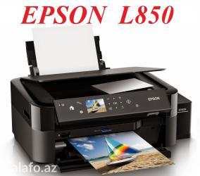 - Azərbaycan: Printer Epson L850FOTO PRINTER (6 rengli) Zavod SMPC ileAdi kagiza
