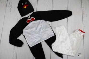 Товар: Костюм пингвина детский, черный с белым, размер 34, рост