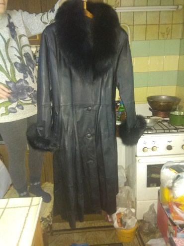 Плащ-пальто кожаный 46-48 размер. в Бишкек