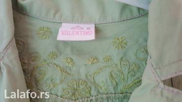 Moderna jaknica za devojčice sa cvetnim vezom na rukavu I ledjima - Nis