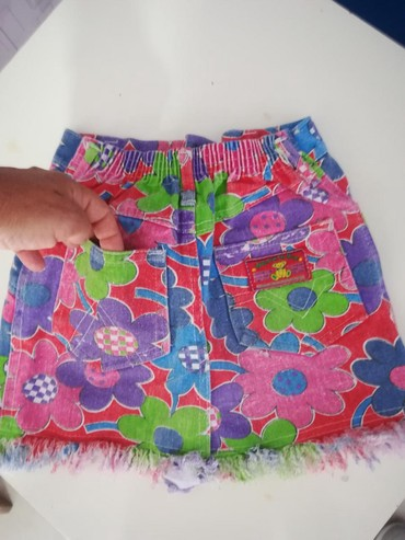 Prelepa suknjica za 6-7god Šareni teksas  - Batajnica - slika 3