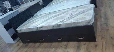 спальные кровати с матрасами в Кыргызстан: Кровать одно спальный 190×80 цена 5500 200×90 цена 6000 с матрасом +до