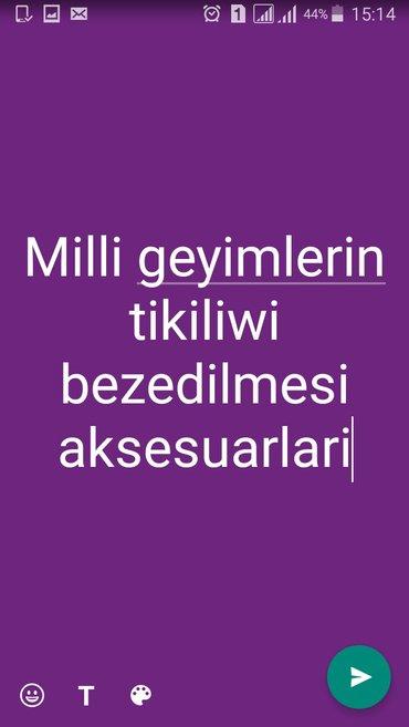 Bakı şəhərində milli geyimlerin tikilisi