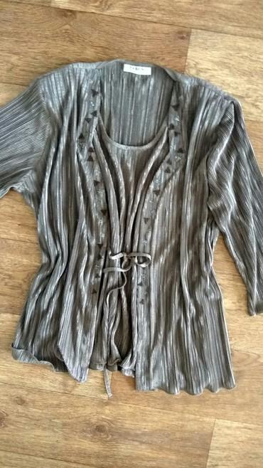 нарядные блузки в Кыргызстан: Нарядная блузка размер l тянется. ткань нежная. покупала во Франции