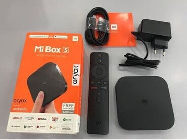 hdmi - Azərbaycan: •Mİ BOX S✓qutusundan Xiaomi Mi Box S 4K Android TV Box; güc adapteri