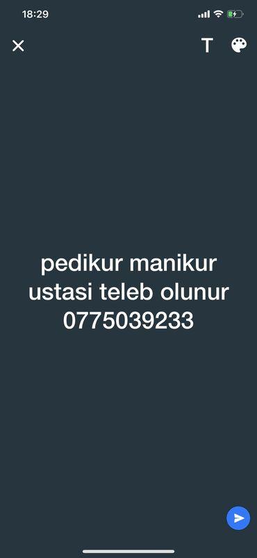 faize pul verirem - Azərbaycan: Pedikur ustası. 1-2 illik təcrübə. Yerin icarəsi. 8-ci mikrorayon r-nu