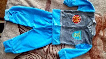 продам нов в Кыргызстан: Продам новый велюровый костюмчик на мальчика от 3 до 6 мес