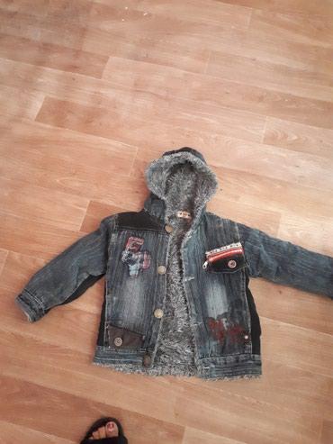 велосипед для мальчика 3 лет в Кыргызстан: Куртка джинсовая, теплая для 3-4 лет