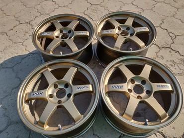 шины б у 13 радиус в Кыргызстан: Продам нaстоящие Volk racing TE37 R17 разноширокие 8JJ ET38 и 9JJ