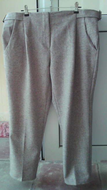 женские брюки с высокой посадкой в Азербайджан: Продам женские брюки бежевого цвета укороченные,производство