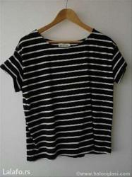 Majica rukavacine - Srbija: Majica h&m, teget sa belim prugama, veličina m