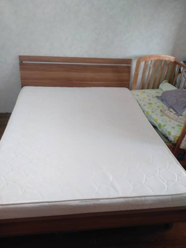 """Кровать двуспальная (160 см. Х 200 см.) Шатура + матрас """"Lina"""" в Бишкек"""
