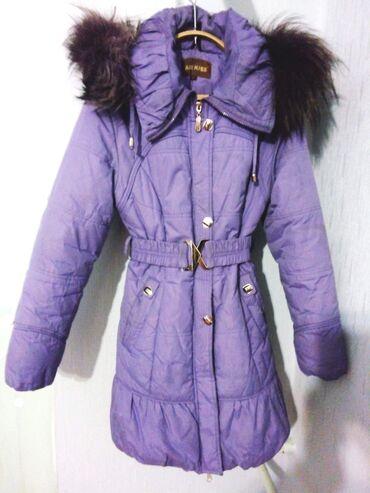 Продаются зимние детские куртки: фиолетовая 40-42 размера (примерно