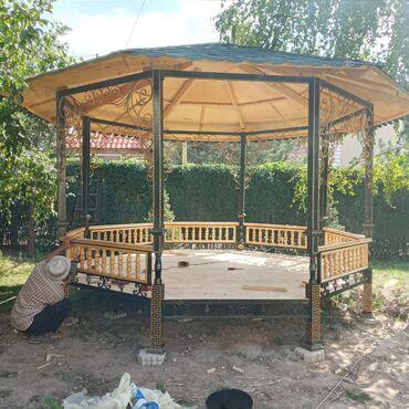 тарифы ошки в Кыргызстан: Беседки топчаны, качели, скамьи. На заказ и в наличии. По трассе