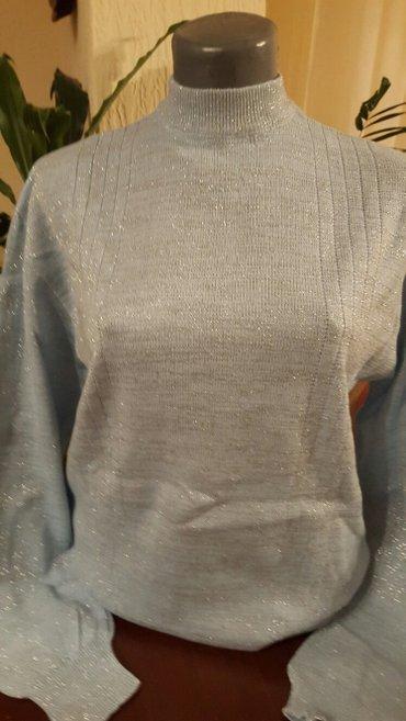 Plavo srebrna bluza dzemper vel l novo doneta iz francuske - Pozarevac