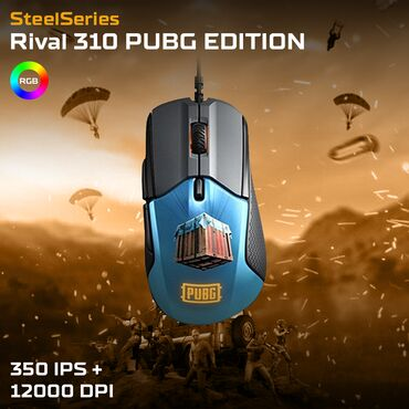 SteelSeries Rival 310 PUBG Edition - RGBGaming MouseYeni - Bağlı