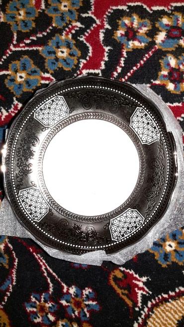 Boşqablar - Azərbaycan: Nəlbəki, armudu stəkan üçün, gümüşü rəngdə, 6 ədəd, yenidir