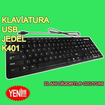 """Bakı şəhərində Klaviatura """"JEDEL K401"""" (Yeni)"""