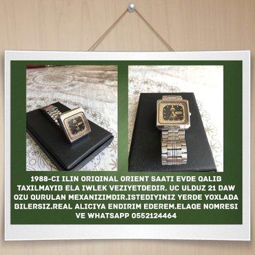 Bakı şəhərində 1988-ci ilin oriqinal Orient saati evde qalib taxilmayib ela iwlek