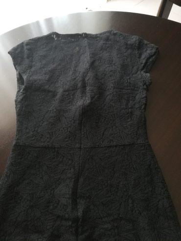 Haljina-cipkasta - Srbija: Zara crna svecana cipkasta haljina, m velicina, grudi poluobim 40cm