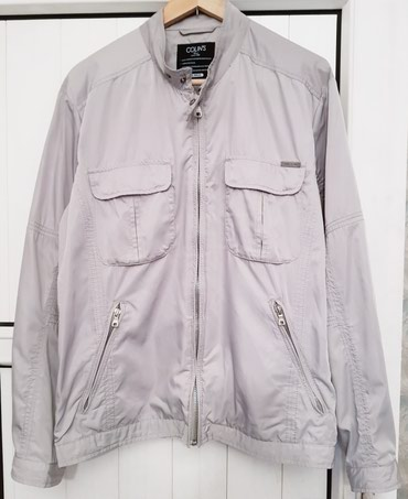 "muzhskie kofty colins в Кыргызстан: Куртка мужская ""Colins"" Турция, цвет серый, размер L, рост 170см, б/у"