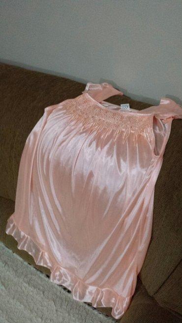Nova svilena spavaćica , boja kajsije, dužina 80cm - Velika Plana