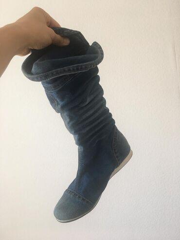 Продаются джинсовые летние (на тёплую осень) сапоги 38 размера, на пол