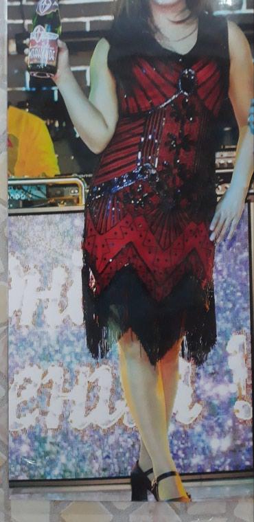Продаю платье! размер 44. 46 стречь хорошо тянется носила один раз. в Бишкек