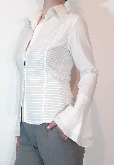 Bluza p - Srbija: P. S. fashion nova kosuljica. elegantnog,rebrastog motiva sa