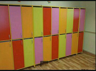 Мебель для детского сада.2-х ярусные шкафчики для раздевалок в детские