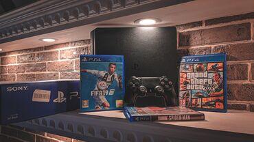 oyun kompyuterleri в Азербайджан: Salam. PlayStation 4 SLIM 500gb + 53 oyun satılır, PlayStation özüm