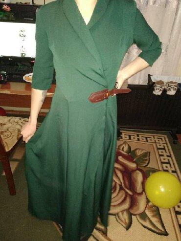 Платье в пол, зелёного цвета размер 44 город Джалал абад