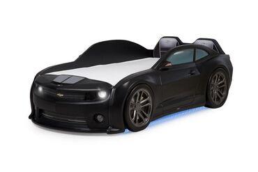 Детская кровать-машина 3d Camaro EVO черныйАвтономера, водительское