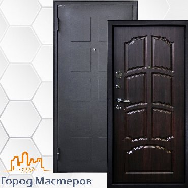 """Входная дверь """"Обь""""• Цвет полимерного покрытия — металлик чёрный. •"""