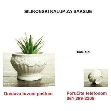 Kućni dekor - Vrbas: Kvalitetan silikonski kalup za izradu manjih vaza za cveće od betona