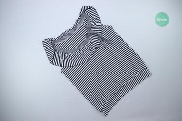 Личные вещи - Украина: Жіноча блуза у смужку з круглим комірцем, р. М   Довжина: 63 см Напіво