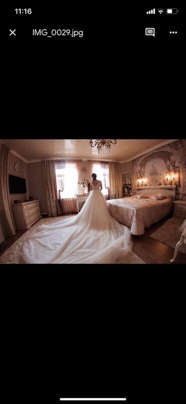 как заказать платье в Кыргызстан: Продаю новое свадебное платье со шлейфом. (Можно укоротить) Верх