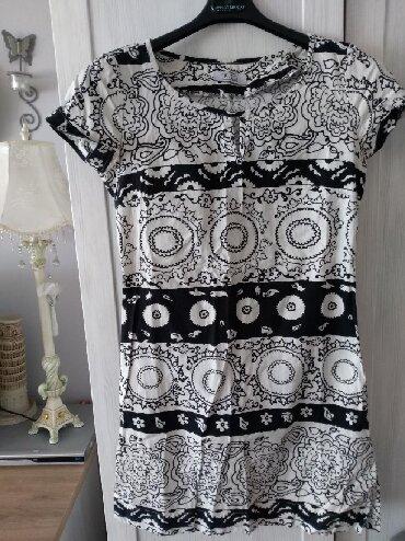 P. S. nova haljina ili tunika crno belog prelepog dezena 38 velicina - Novi Sad