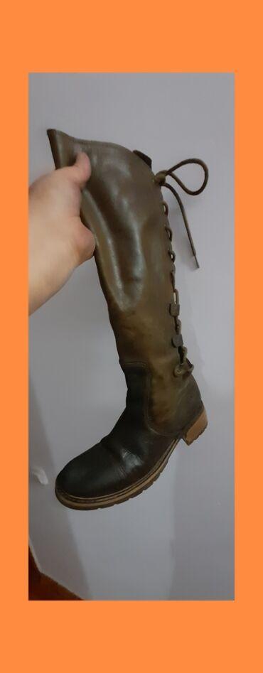Женские голландские кожаные НАТУРАЛЬНЫЕ сапоги. Размер 39. БРЕНД Mexx