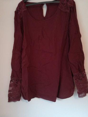 Košulje i bluze | Pozega: C&A, m vel, bordo kosuljica sa cipkanim delovima